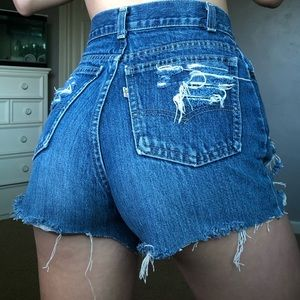Rare vintage levi's jean shorts